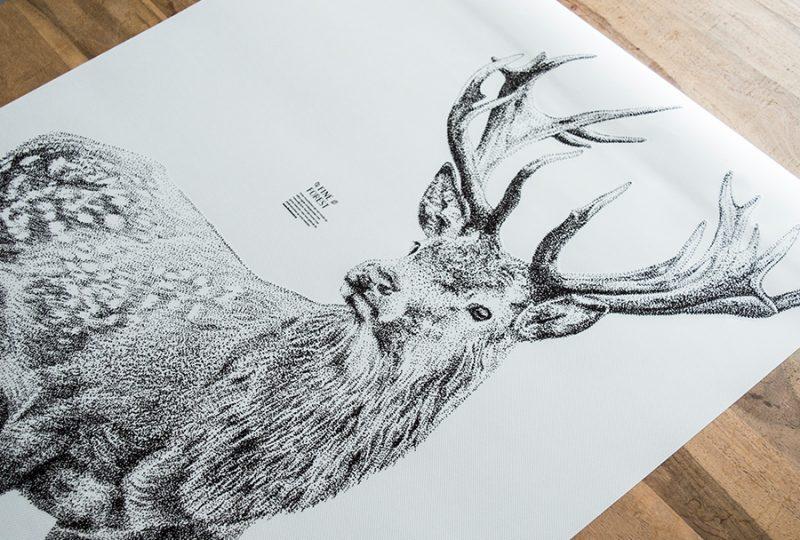Hert bos Fine Forest dieren muursticker