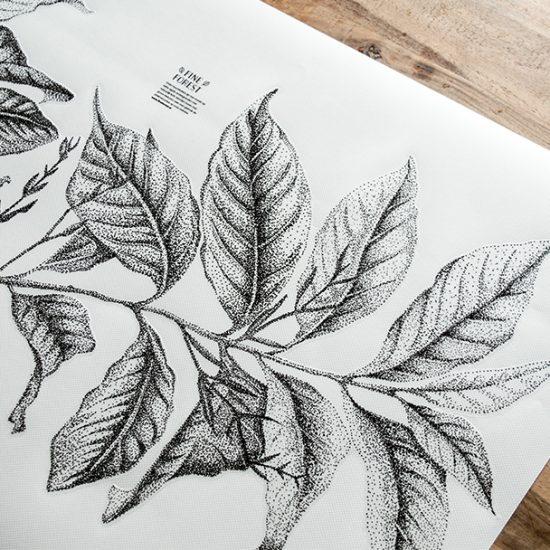 Botanisch plant Fine Forest dieren muursticker
