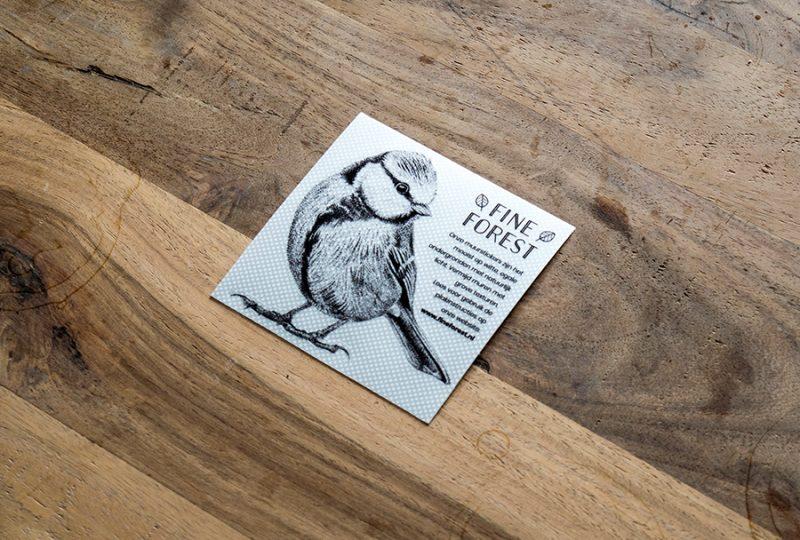Pimpelmees vogel Fine Forest dieren muursticker