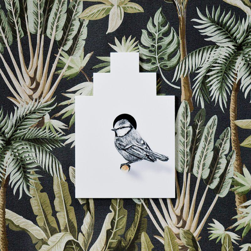 Vogelhuisje pimpelmees, Fine Forest, muurstickers