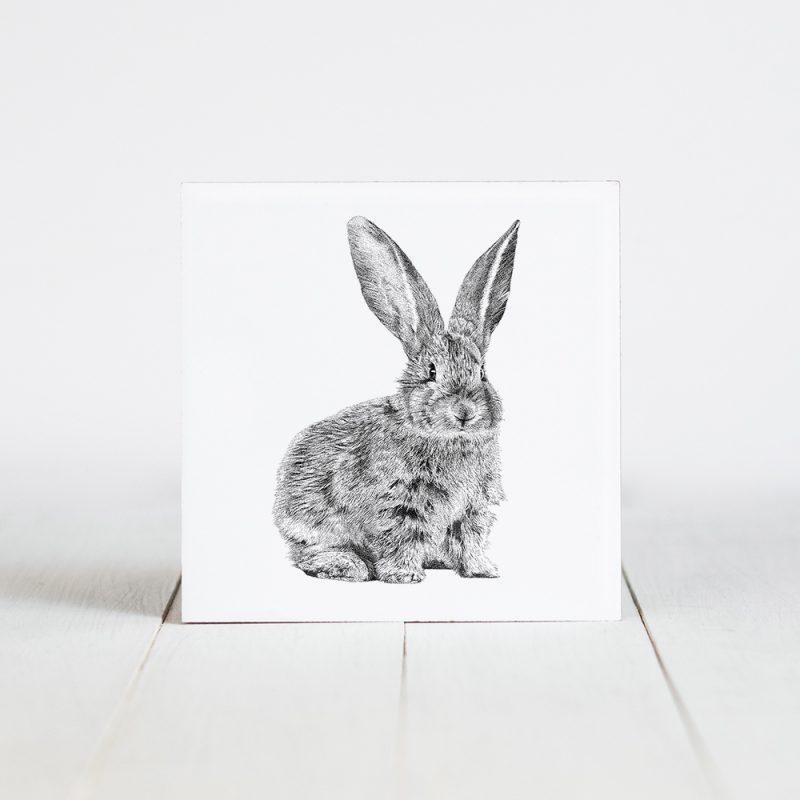 Tegel met Fine Forest illustratie, konijn, Fine Forest