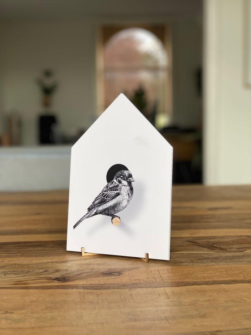 Vogelhuisje mus, Fine Forest, muurstickers